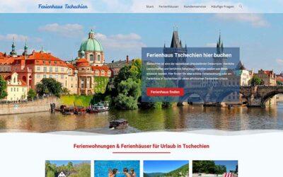 Ferienhaus-Webseite für Tschechien